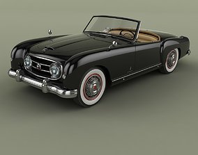 3D Nash Healey Pininfarina Roadster