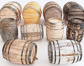 Barrels water 3D model