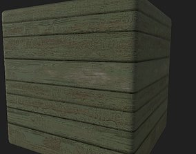 3D model Wooden Planks Painted Dirty - Substance