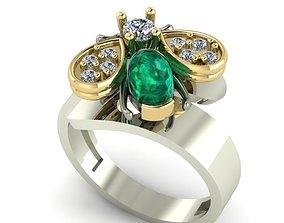 bee ring 3D print model