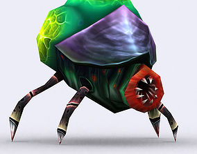 3DRT - Insectoid Monster Tick animated