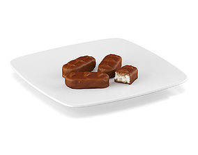 3D model Chocolate bars 4