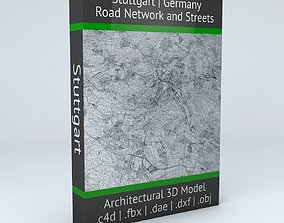 Stuttgart Road Network and Streets 3D