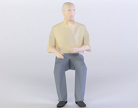 low-poly LOW POLY AUDIENCE 30 3D MODEL