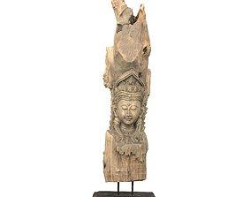 3D model Buddha Tree Carving