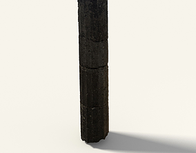 3D model Big Greek Column Cutted