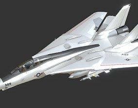 VR / AR ready F-14 Super TomCat Fighter Jet 3D Model