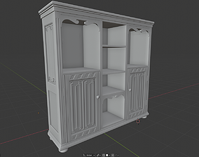 Gothic Bookcase cabinet 3D print model