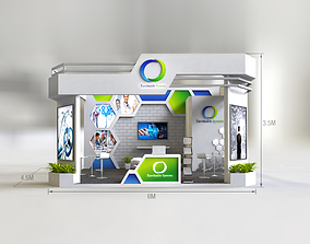 3D Exhibition Stand Booth design 27sqm