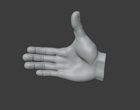 Human hand with bone and movement removable and 3D