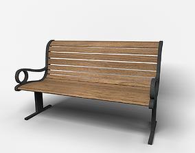 fixture Bench 3D asset game-ready