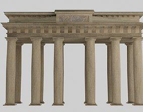 Temple doric Brandeburg door model realtime