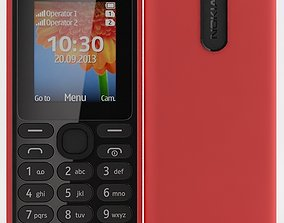Nokia 108 Dual SIM Red 3D model