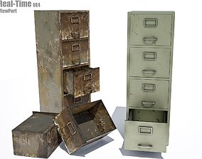 3D asset File cabinet - PBR Game-Ready