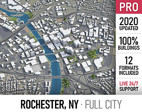 Rochester - city and surroundings 3D model