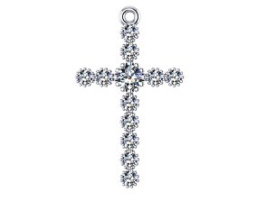 classic cross with diamonds 3D print model