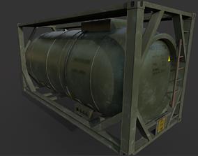 Military fuel tank 3D asset