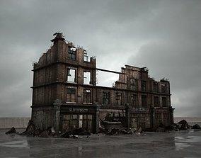 destroyed building 086 am165 3D