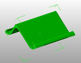 3D printable model Two angle position iPad2 stand wide
