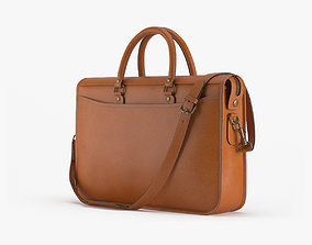 Marston Briefcase In Caramel Leather 3D model