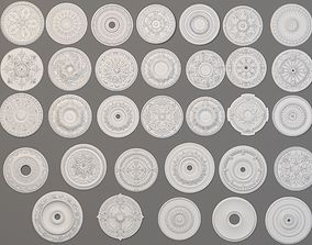 3D model Rosettes Collection -1 - 32 pieces
