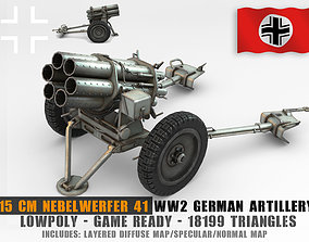 Low Poly 15cm Nebelwerfer 41 rocket 3D asset