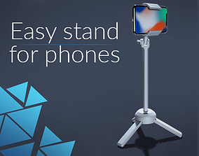 Easy stand for smartphone 3D printable model