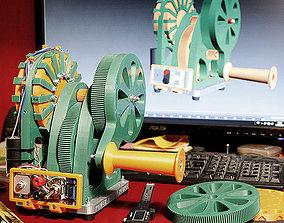 The Hand Cranked Power Generator 3D print model