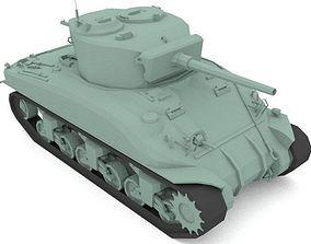 WW2 US M4 Tank 3D