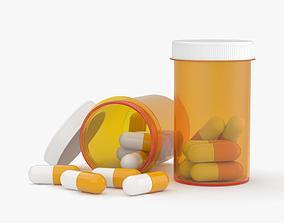 3D medical Pill Bottle