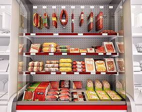 Refrigerated showcase Fortune meat 3D