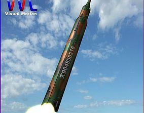 KN-08 No Dong-C Ballitic Missile 3D model