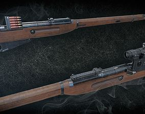 Soviet Mosin-Nagant M38 3D model