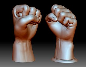 Fist hand gesture knuckle STL file 3D printable