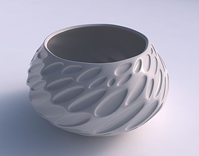 3D print model Bowl squeezed twisted with bubbles