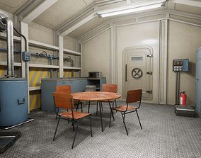 HQ Nuclear Bomb Shelter 3D model PBR