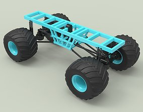 Chassis for Monster vehicle 3D