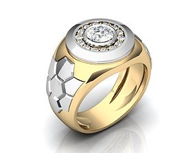 3D print model Gold Silver Ring BK380