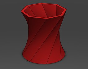 Decorative Flower Pot 8 3D printable model