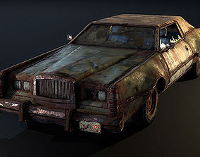 3D asset Post Apocalyptic Car