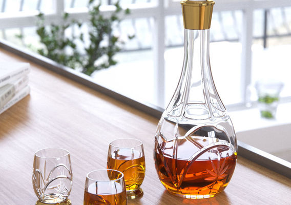Cognac Crystal Glass Set