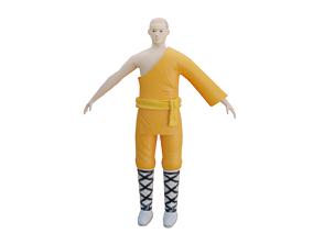 3D model Warrior Monk