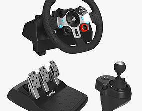 Logitech G29 Driving Force Racing Wheel Set 3D