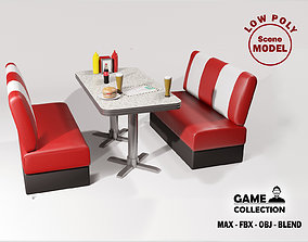 3D model American dining Table 2