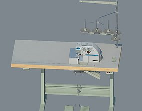 Industrial overlock Yamata FY757A 3D model