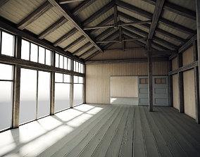 3D PBR Wooden Hangar