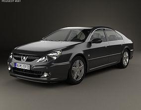 3D model Peugeot 607 2004