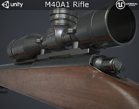 3D asset game-ready M40A1 Sniper Rifle