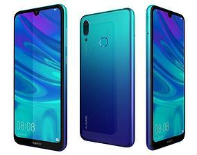 Huawei Y7 2019 Aurora Blue 3D model