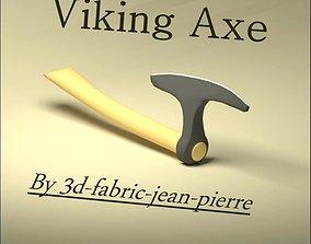 3D printable model knight Viking Axe
